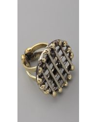 Anndra Neen | Metallic Circle Cage Ring | Lyst