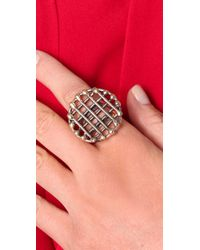 Anndra Neen | Metallic Circle Cage Ring | Lyst