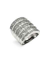 Ariella Collection | Metallic Multi Row Cubic Zirconia Ring | Lyst