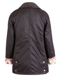 Barbour Brown Lord Paisley Liberty Print Beadnell Jacket
