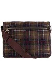Barbour Green Tartan Tarras Messenger Bag for men