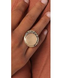 Belle Noel - Metallic Coin Cocktail Ring - Lyst