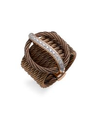 Charriol | Brown Celtique Gold, Diamond & Bronze Cable Ring | Lyst