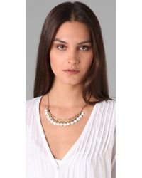 Club Monaco - White Enamel Bead Necklace - Lyst