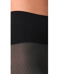 Commando | Black 2 Tone Rib Opaque Tights | Lyst