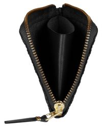 Comme des Garçons Black Embossed Half Zip Wallet for men