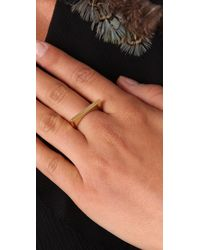 Elizabeth and James - Yellow Architecture Square Stacking Ring - Lyst