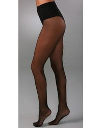 Falke - Black Control Top Silhouette Tights - Lyst