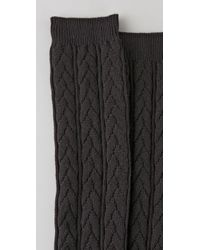 Falke | Black Striggings Cable Knit Knee High Socks | Lyst