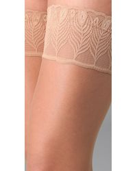 Falke | Natural Lunelle 8 Peacock Stay Up Tights | Lyst