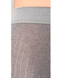 Falke - Gray Striggings Ribbed Footless Tights - Lyst
