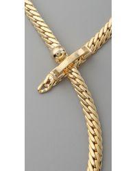 Fallon - Metallic Bourdin Necklace - Lyst