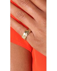 Fallon - Metallic Loved Id Ring - Lyst