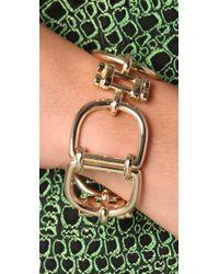 Fallon - Metallic Social Security Link Bracelet - Lyst