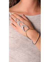 Fleet Jewelry - Metallic The Gauntlet Hand Chain - Lyst