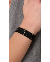 Gorjana | Black Graham Studded Leather Wrap Bracelet | Lyst