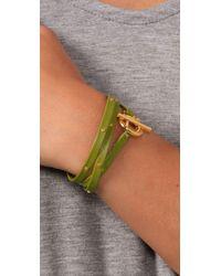 Gorjana - Green Graham Leather Studded Wrap Bracelet - Lyst