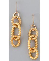 Gorjana - Metallic Rope Drop Earrings - Lyst