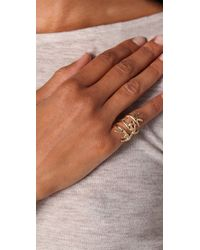 House of Harlow 1960 - Metallic Antler Wrap Ring - Lyst