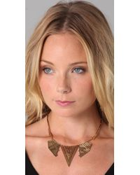 House of Harlow 1960 | Metallic Chevron Station Necklace | Lyst