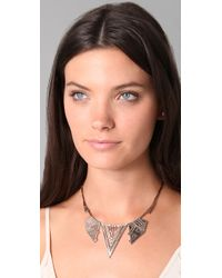 House of Harlow 1960 - Pink Chevron Station Necklace - Lyst