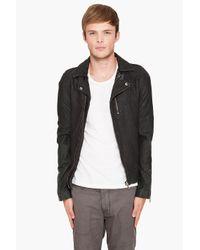 IRO - Green Dario Leather Jacket for Men - Lyst