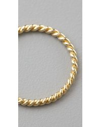 Jacquie Aiche - Metallic Twisted Waif Ring - Lyst