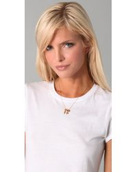 Jennifer Zeuner | Metallic Boy/girl Kissing Necklace | Lyst