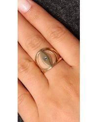 Jennifer Zeuner - Metallic Evil Eye Sapphire Ring - Lyst