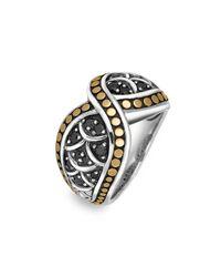 John Hardy | Metallic Crossover Ring | Lyst