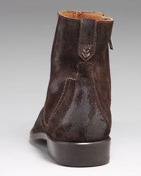 John Varvatos - Brown Suede Dress Boot for Men - Lyst