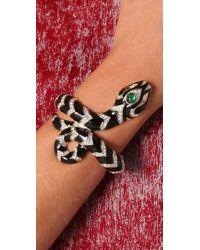 Kenneth Jay Lane   Black Snake Bracelet   Lyst