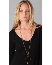 Low Luv by Erin Wasson   Metallic Bone Cross Necklace   Lyst