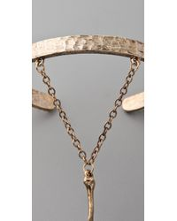 Low Luv by Erin Wasson   Gold Bone Hand Bracelet   Lyst