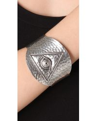 Low Luv by Erin Wasson - Metallic Evil Eye Cuff - Lyst