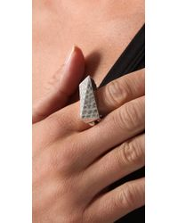 Low Luv by Erin Wasson - Metallic Hammered Shank Ring - Lyst