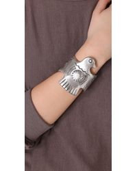 Low Luv by Erin Wasson - Metallic Large Thunderbird Cuff - Lyst