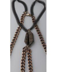 Luv Aj - Metallic Heavy Metal Body Chain - Lyst