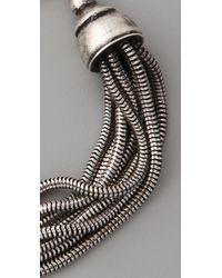 Made Her Think - Metallic Victorian Snake Id Bracelet - Lyst