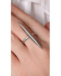 Made Her Think - White Marquis Silver Ring - Lyst