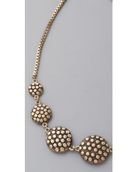 Madewell | Metallic Gold Spots Circle Necklace | Lyst