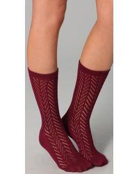 Madewell Red Pointelle Trouser Socks