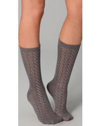 Madewell Gray Pointelle Trouser Socks