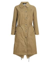 MHL by Margaret Howell | Natural Dark Manilla Fishtail Parka | Lyst