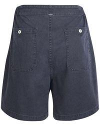 MHL by Margaret Howell - Blue Indigo Gym Shorts - Lyst