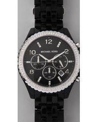 Michael Kors | Black Pilot Watch | Lyst