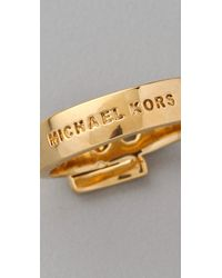 Michael Kors | Metallic Jet Set Buckle Ring | Lyst