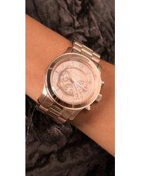 Michael Kors | Pink Oversized Rose Gold Watch | Lyst