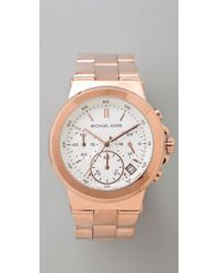 Michael Kors | Pink Rose Gold Watch | Lyst