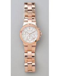 Michael Kors - Pink Rose Gold Watch - Lyst